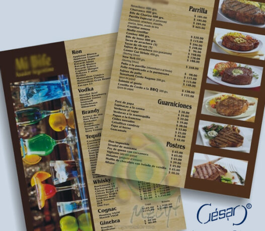 Servicios de impresión para restaurantes | Imprenta en Ciudad de México | Impresos César | impresoscesar.com